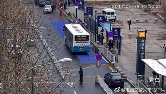 到青岛火车站(南站)接送客 注意三种涂色区域