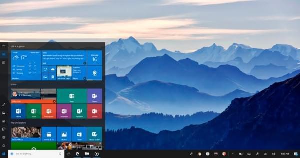 Windows 10 NEON计划开始菜单UI概念图的照片