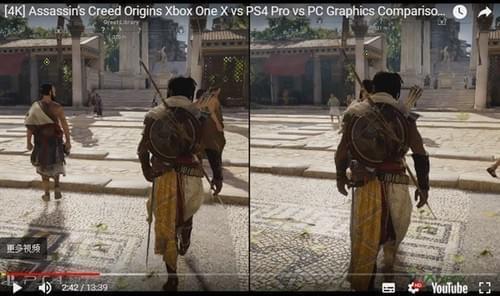 瞬间对PS4 Pro无爱 Xbox One X画质对比