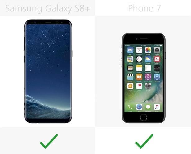 Galaxy S8+和iPhone 7规格参数对比的照片 - 22