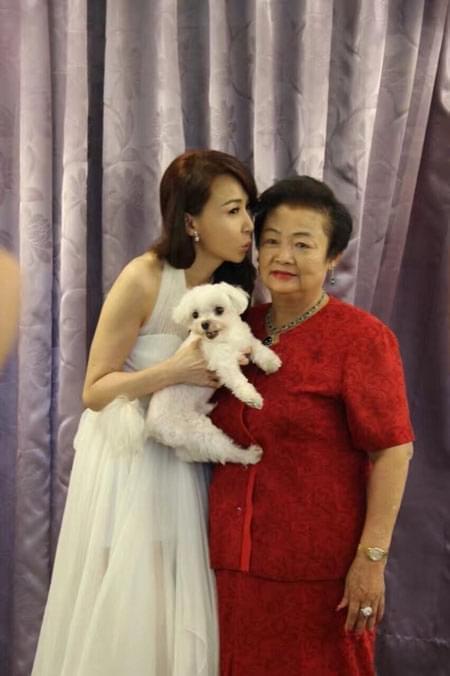 萧蔷与妈妈