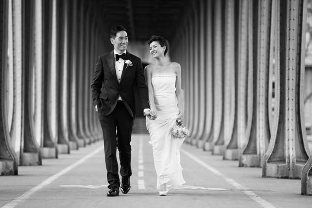 陈茵微晒结婚照