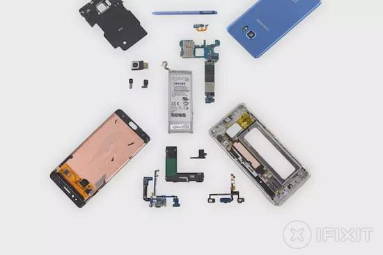 Note 7翻新机内部什么样?把电池做小了