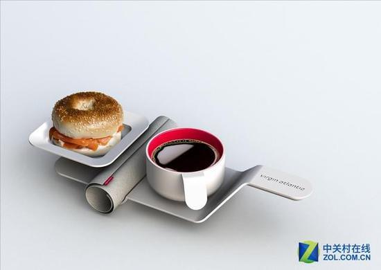 颜值爆表!外飞机上竟有如此别致的餐具