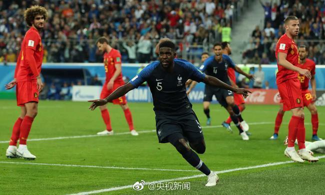 世界杯第一场半决赛,法国1-0小胜比利时。