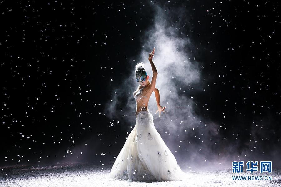 #(文化)(2)杨丽萍主演舞剧《孔雀之冬》舞动津城