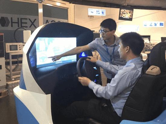 中智仿真睿航汽车模拟驾驶器入驻深圳工业展览馆,开启模拟学车亲民新篇章