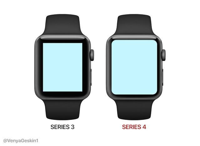 Apple Watch Series 4曝光:屏幕尺寸更大