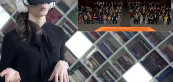 对付恐高和公开发言 三星用VR帮助人们战胜恐惧的照片