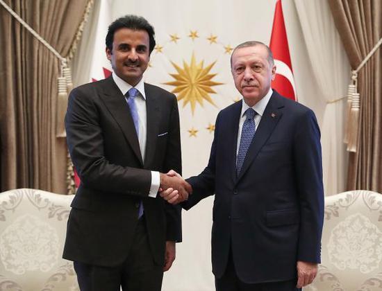 卡塔尔承诺向土耳其投资150亿美元 里拉应声大涨