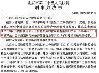 中金公司原投资经理刑满释放4年后再获缓刑