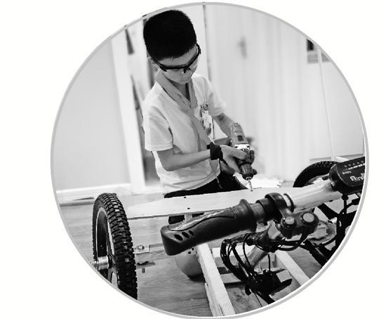 11岁男孩花620元手工打造属于自己的卡丁车
