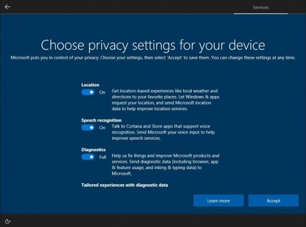 微软改善Windows 10隐私设置:取消Enhanced级别的照片
