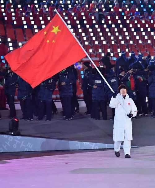 体彩代言人抢镜冬奥会:旗手为公益形象大使