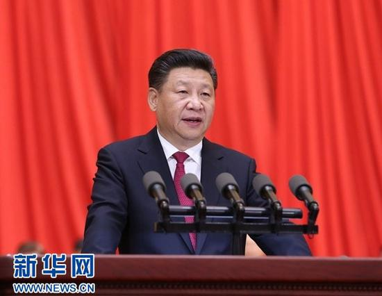 2016年7月1日,习近平在庆祝中国共产党成立95周年大会上发表重要讲话。图片来源:新华社
