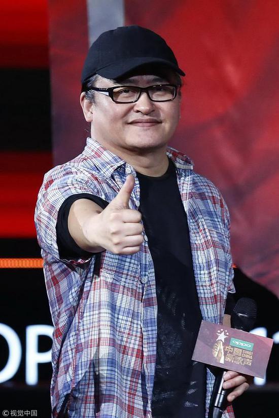 2017年6月《中国新歌声》第二季发布会上。图来自视觉中国