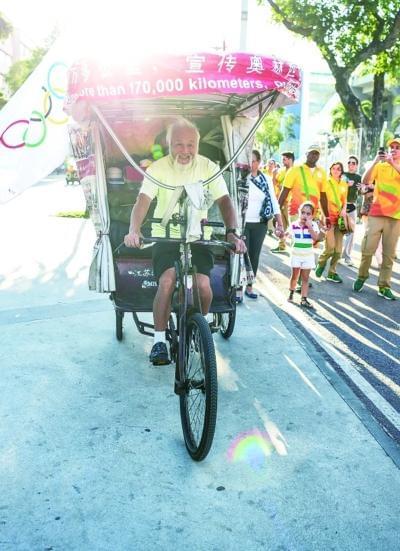 骑三轮车追逐奥运