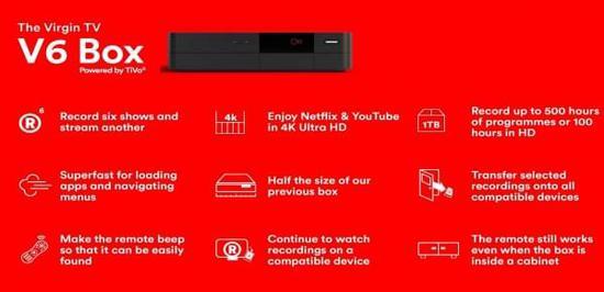 维珍媒体推出功能强大的新型4K电视盒