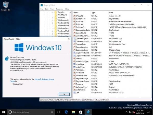 Windows 10 Build 14915推送:PC/手机双版、修复关机BUG的照片 - 1