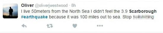 英国刚经历了十年一遇的大地震,大家有点 high