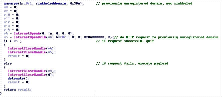 """英国专家破译勒索病毒代码:发现用域名控制的""""自毁开关""""的照片 - 2"""