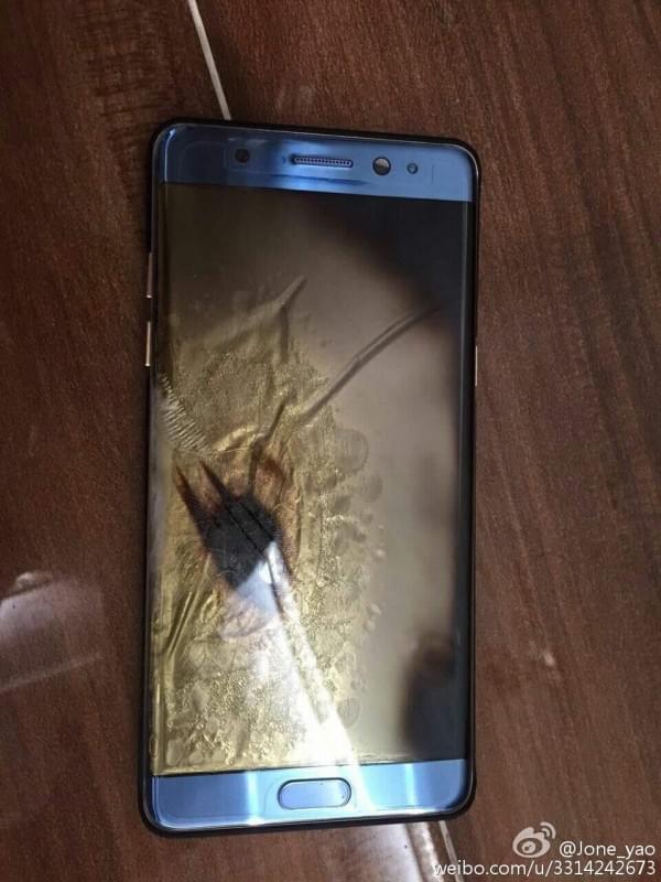 Galaxy Note7国行版被曝中招 三星回应:正在调查的照片 - 2
