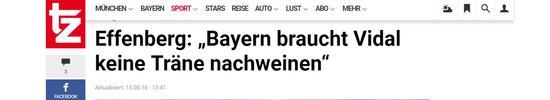 埃芬博格:比达尔巅峰已过,拜仁不必为他离队伤心