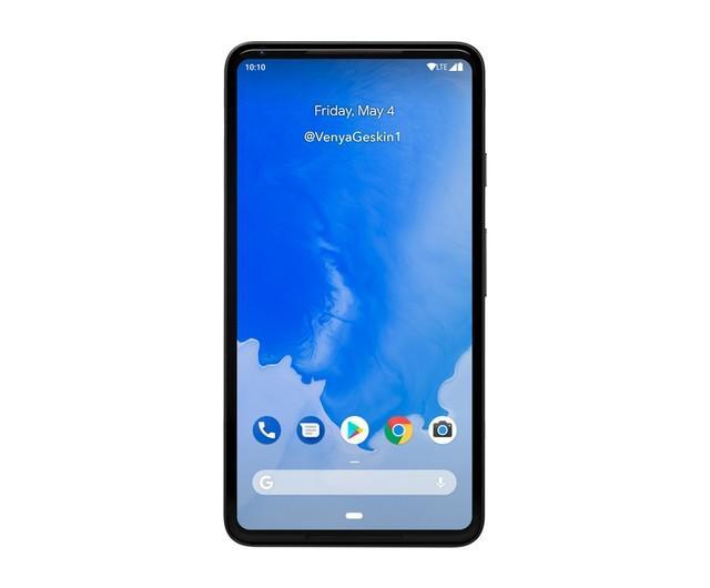 谷歌Pixel 3渲染图曝光 全面屏没刘海