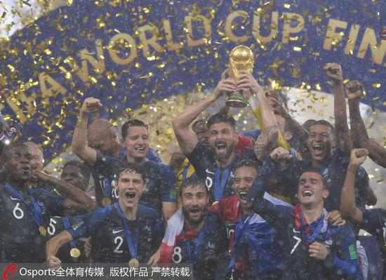 高清:法国夺世界杯冠军 莫德里奇获金球奖、姆巴佩成代理网关最佳新人