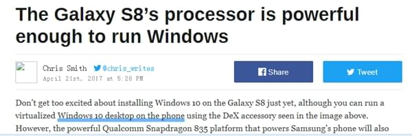 高通微软合作:小米6、三星GS8有望运行Win10桌面系统的照片 - 4