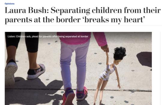 5位美国第一夫人公开指责特朗普最新移民政策