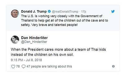 泰国足球少年获救特朗普发文邀功 美国网友炸锅