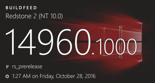Fast通道用户即将迎来Windows 10 Build 14960?的照片 - 1