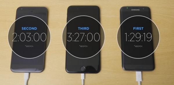 快充的差别:iPhone 7 Plus和Pixel XL以及S7 edge充电对比的照片 - 2