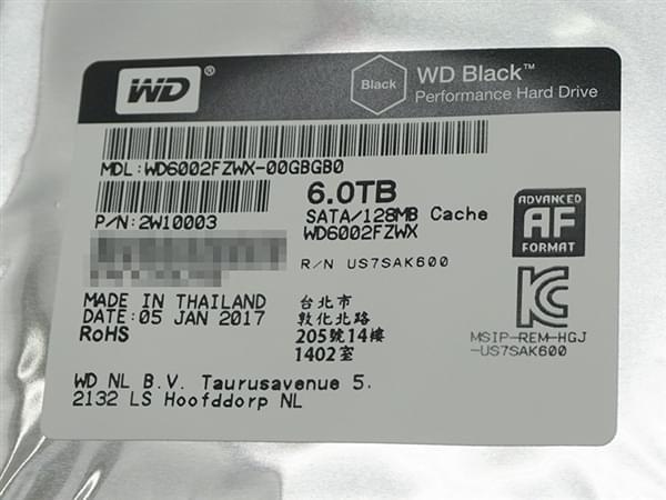 西数6TB黑盘升级版悄然开卖:更快,更省电的照片 - 4