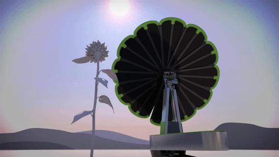 """首台""""一体化""""的太阳能发电系统smartflower(智能花)"""