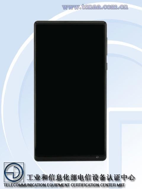 上市在即:全面屏概念手机小米MIX入网工信部的照片 - 2