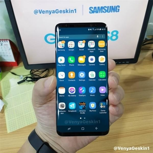 三星Galaxy S8正面大照首次曝光,屏占比感人