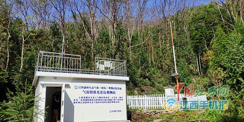 江西森林生态气象观测基地:南昌污染物多来自外地