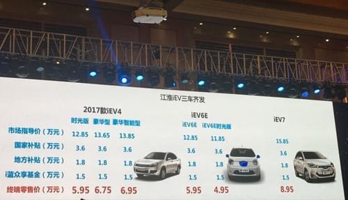江淮多款新车正式上市 瑞风s7将在上海车展预售