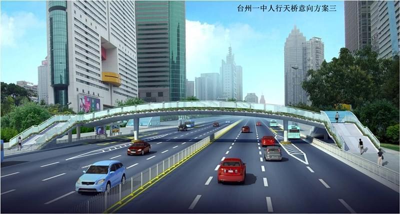 值得期待 椒江三座天桥方案出炉 又添颜值又治堵