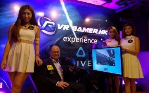 香港网吧率先引进VR游戏体验区 每小时200元