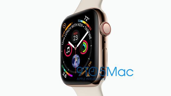 Apple Watch S4也泄图了:大屏幕 新表盘