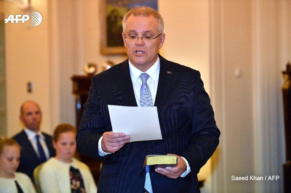 莫里森正式宣誓就任澳总理 承诺将团结国家和政党