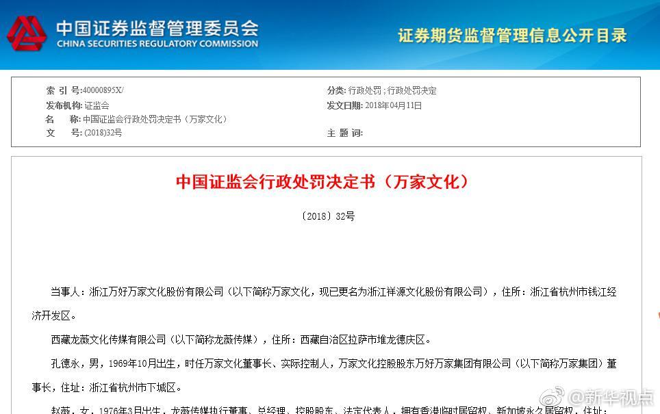 证监会:赵薇夫妇禁入证券市场5年 处以30万罚款