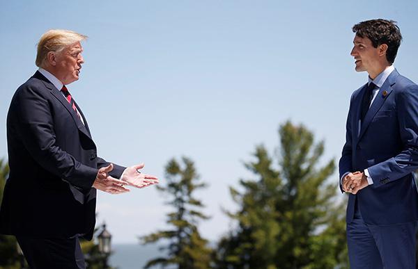 特朗普突改口称不会支持G7公报 对加总理人身攻击