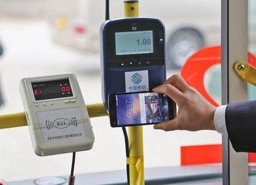 图为安卓机刷公交卡