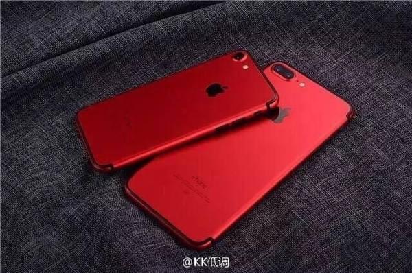 来自华强北的定制iPhone 7 这回改成了红色