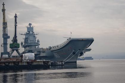 俄唯一现役航母突发事故:起重机砸落舰体 船坞沉没