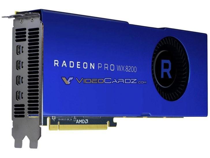AMD Radeon PRO WX 8200专业卡曝光:3584颗流处理器